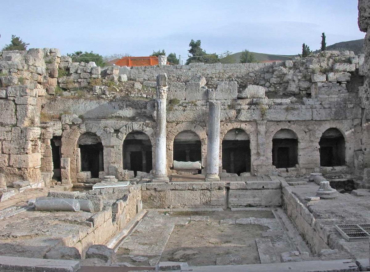 Ancient Corinth, the Roman fountain.