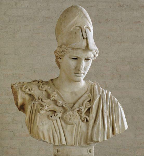 Bust of  Athena, 430-420 BC, Glyptothek of Munich.