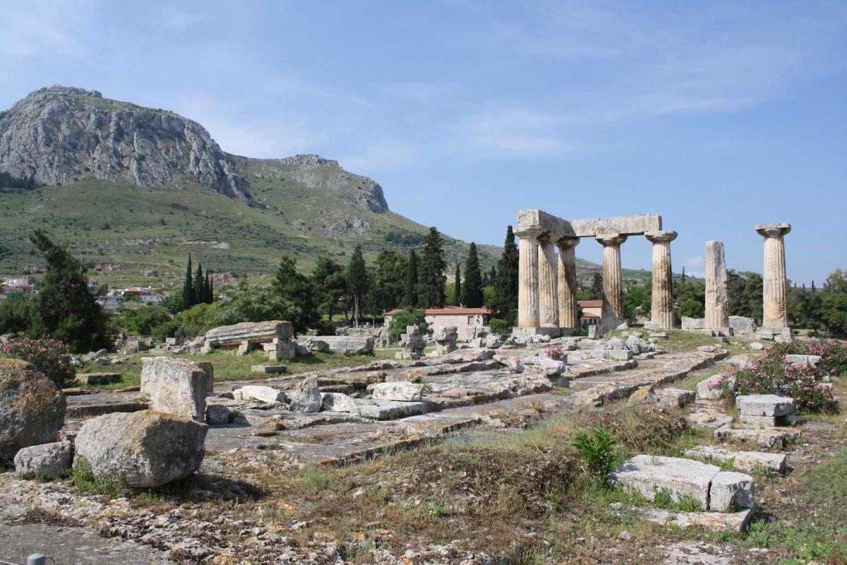 Temple of Apollo, ancient Corinth.