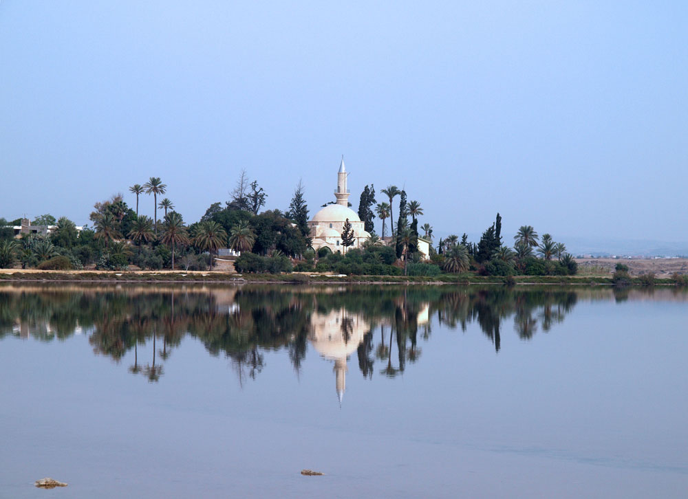The mosque of Hala Sultan in Larnaka, Cyprus.