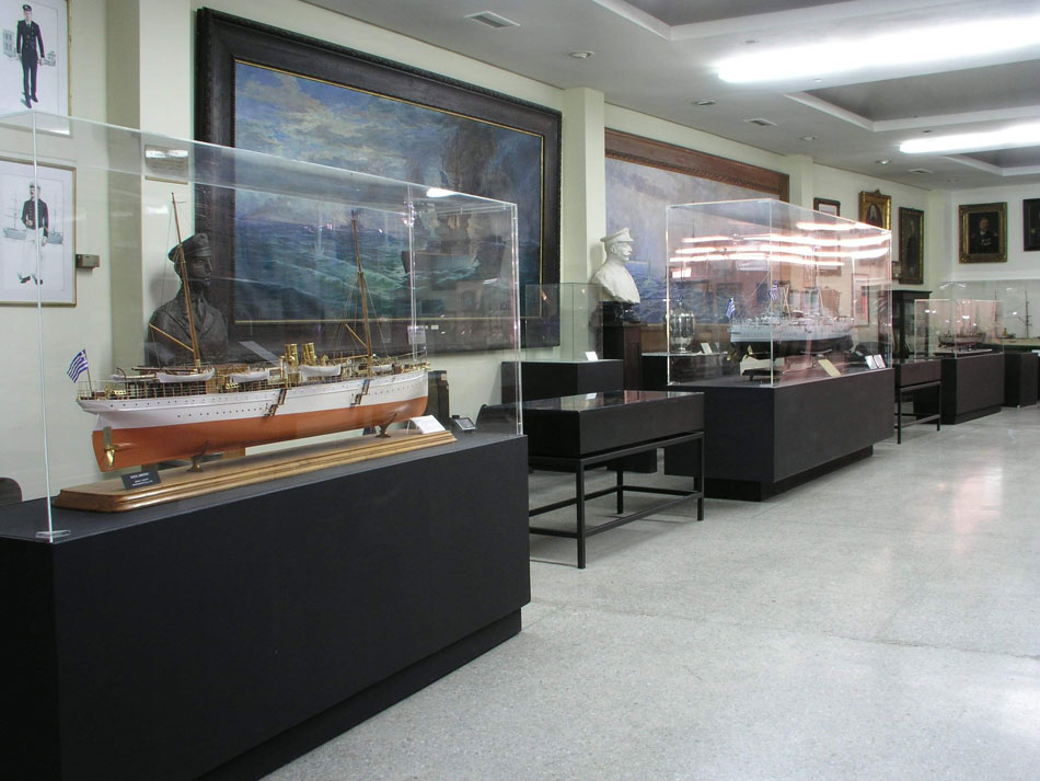 Fig. 22. View of the hall dedicated to the operations of the Hellenic Navy during the Balkan Wars.