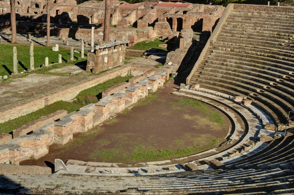 The theatre of Ostia Antica.