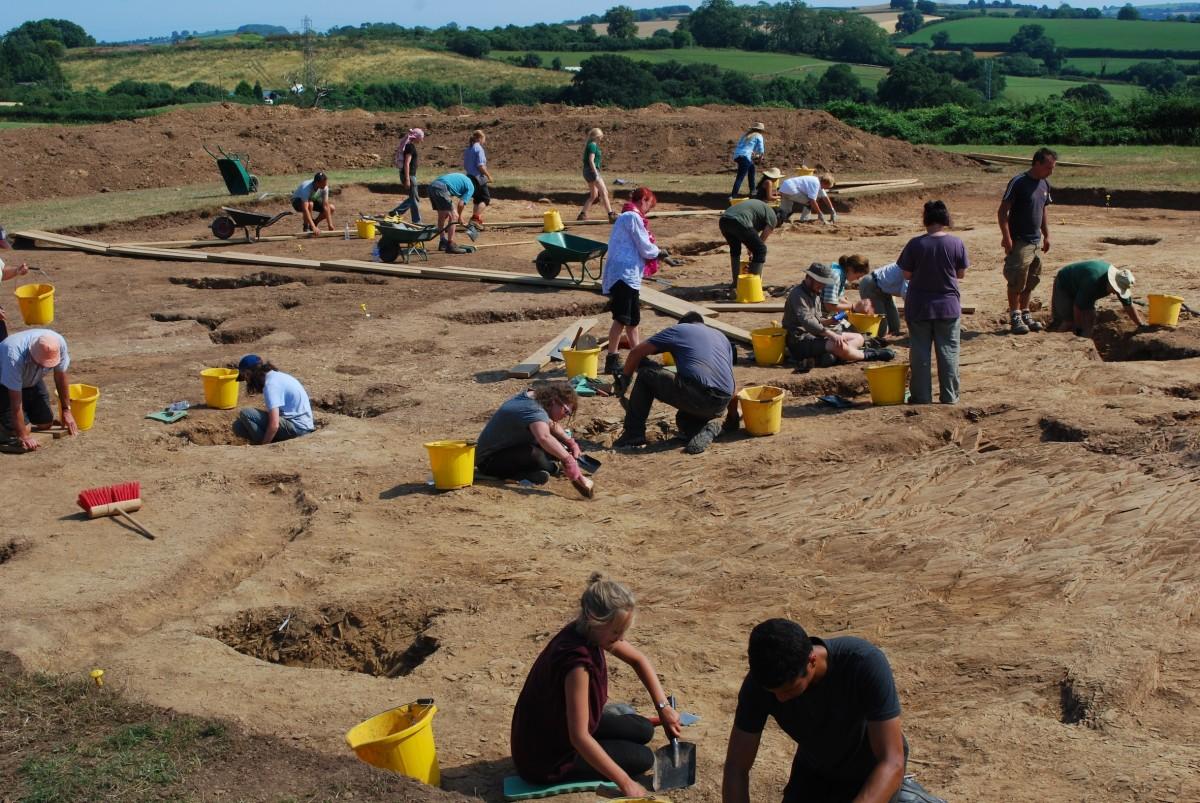 Ipplepen excavation, Open Day, August 2013.