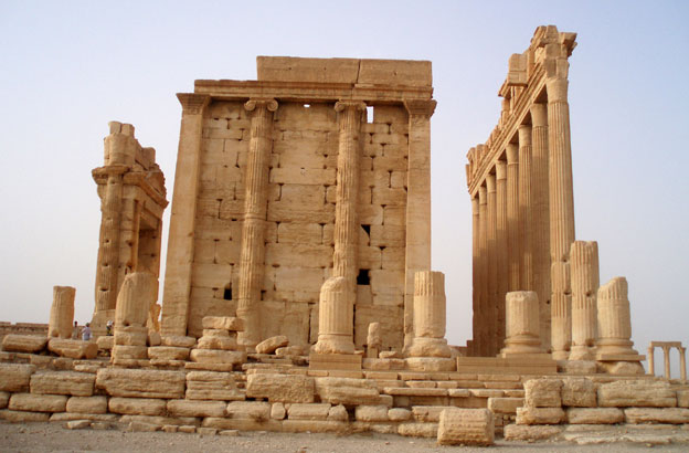 Palmyra: The Temple of Bel seen above before the bombardment. Photo: BBC