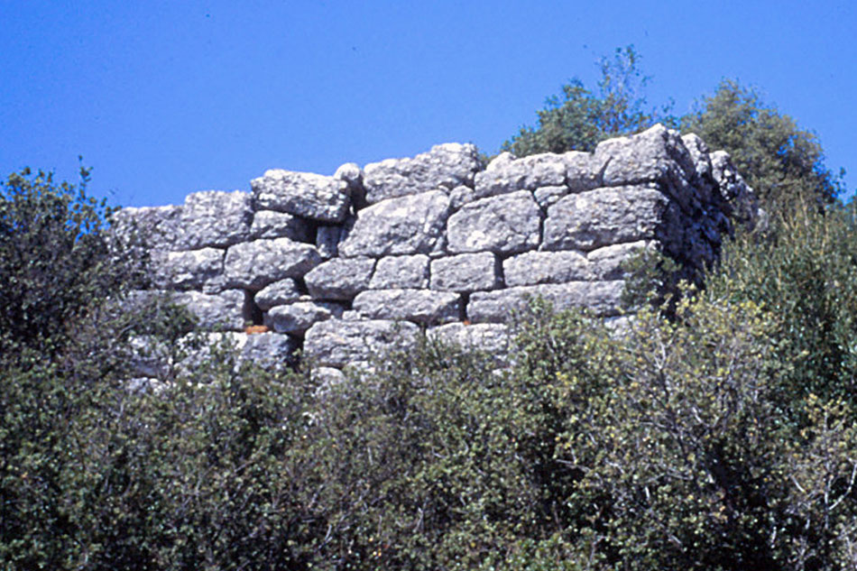Fig. 3. Section of an ancient wall from Palaiokatounon in Arta, as it survives today (Private collection of Angelos Sinanis).