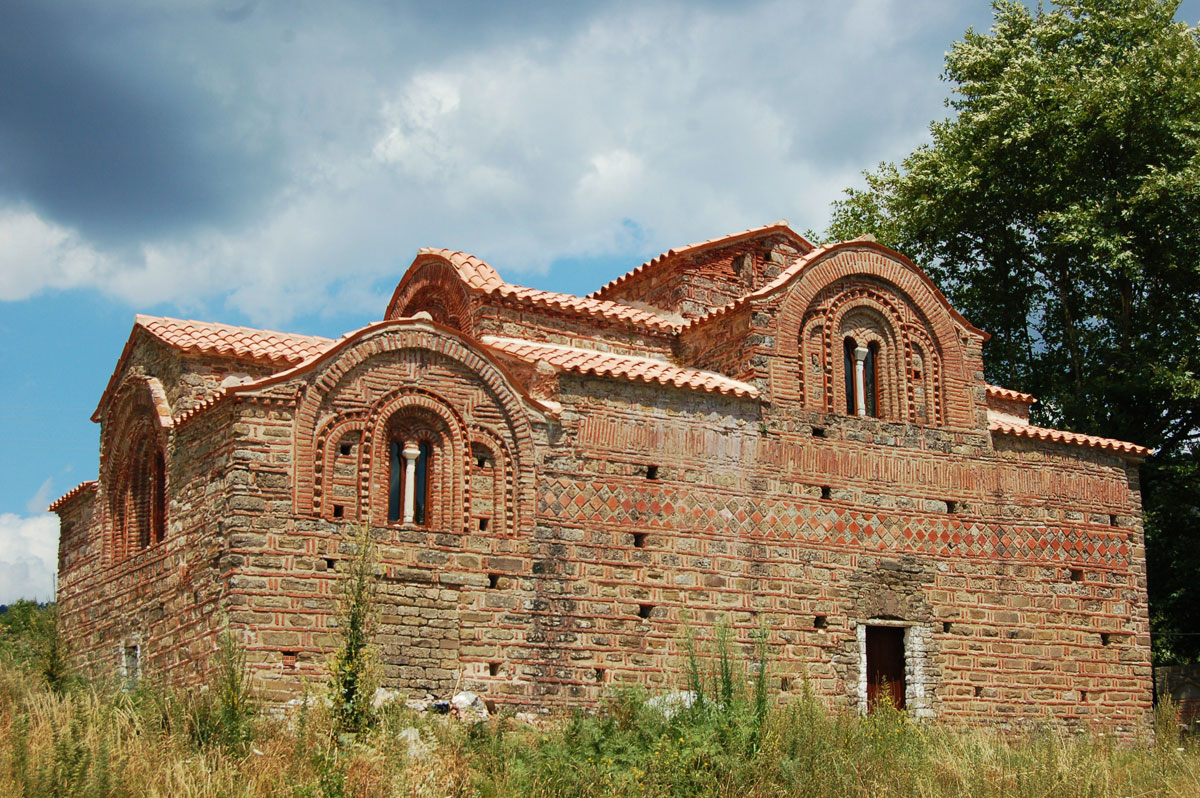 Fig. 4. The Red Church.Tzoumerka's only surviving Byzantine monument (private collection of Angelos Sinanis).