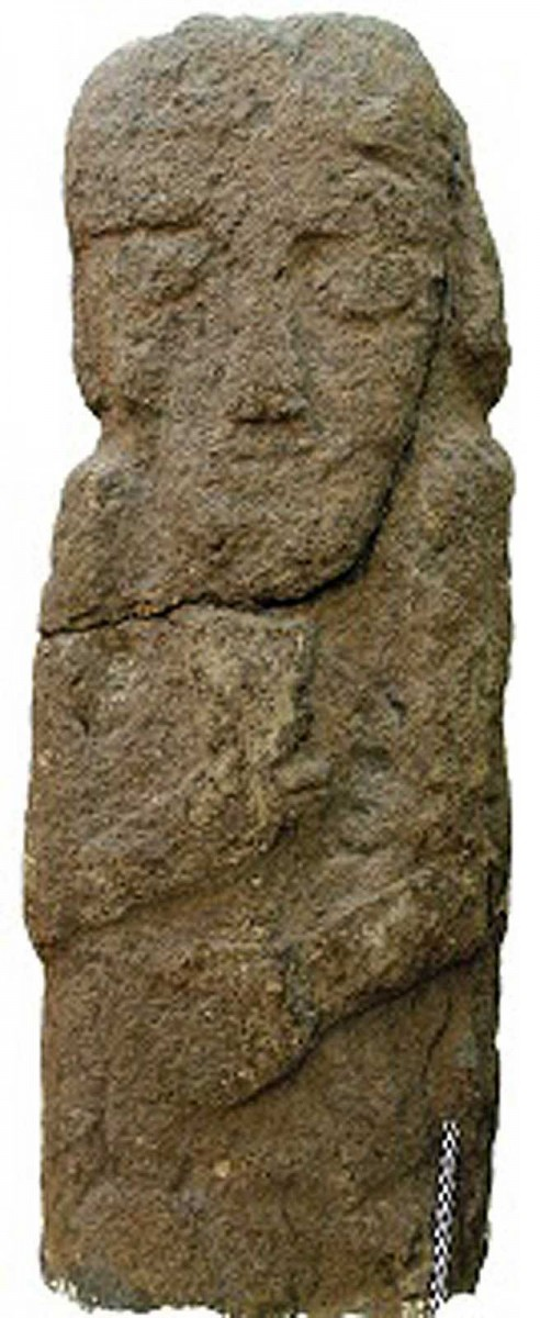 Several life-sized human statues of bearded males, dating back to the seventh or sixth centuries B.C., have also been discovered in Kurdistan. Credit: Photo courtesy Dlshad Marf Zamua