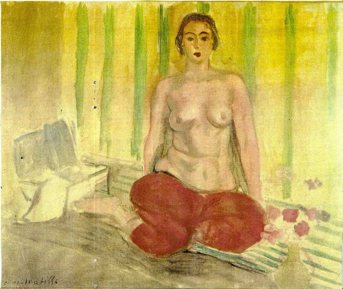 Henri Matisse, Odalisque in Red Pants, 1925.