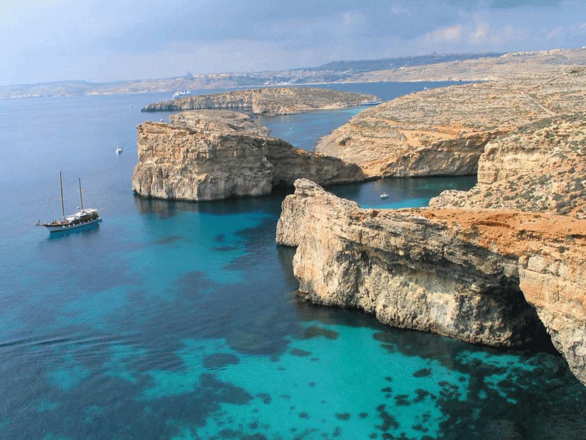 Landscape in the Island of Gozo, Malta.