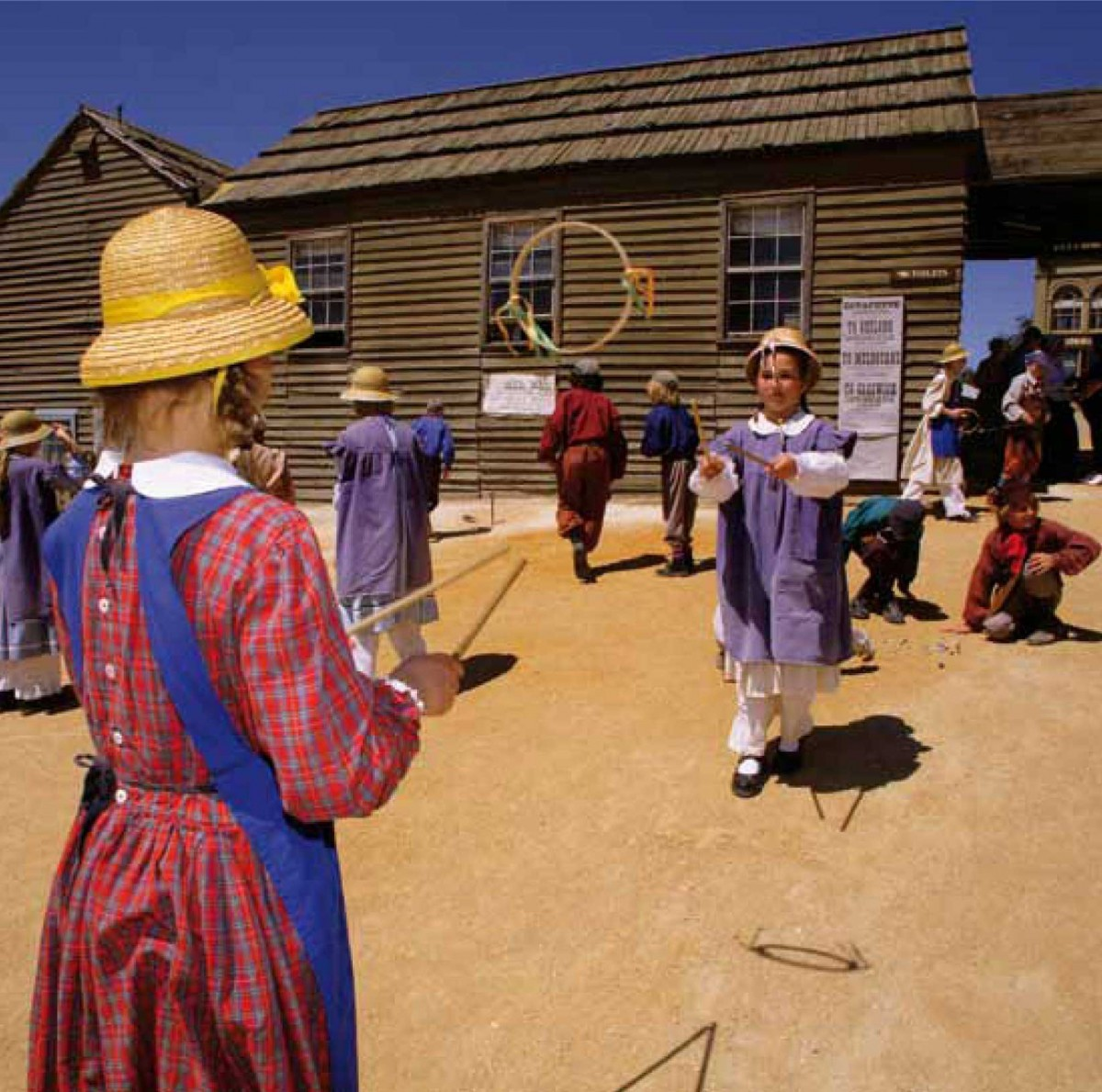 Dressed in 19th century-style clothing, and using classrooms and equipment typical of the era, students enjoy two memorable days in one of the four themed Sovereign Hill Schools as they role-play the lives of goldfields students and come to understand social conditions during the great Victorian Gold Rush.