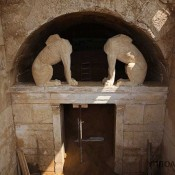 Amphipolis tomb interior is blocked by another wall