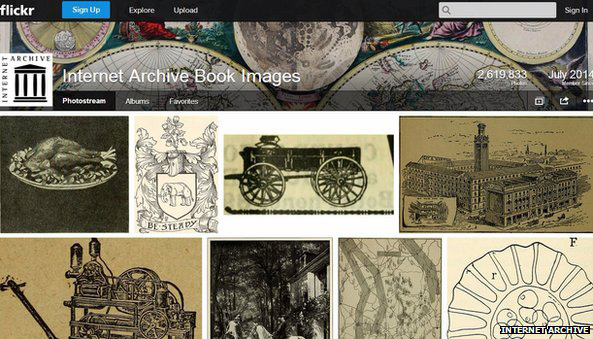 Internet Archive Book Images: Visitors to the site are free to copy and make use of the pictures without charge.