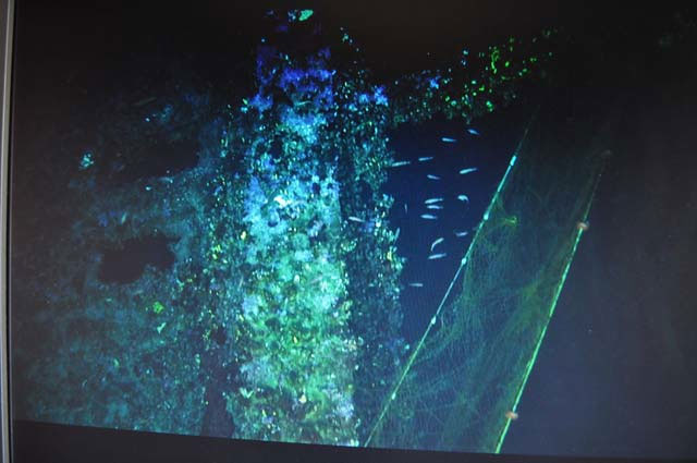 Underwater filming of the Britannic wreck. Photo: Hellenic Ministry of Culture