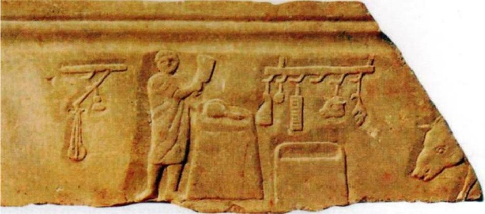 Fig. 4. Butcher. Bas relief from Ostia (Pingiatoglou 2010, p. 42).