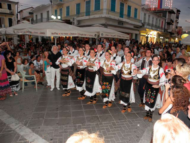 Fig. 1. Serbian Dance troupe during the main parade of the International Folklore Festival in Lefkada (Evang. Karamanes, Lefkada,19th August, 2012).