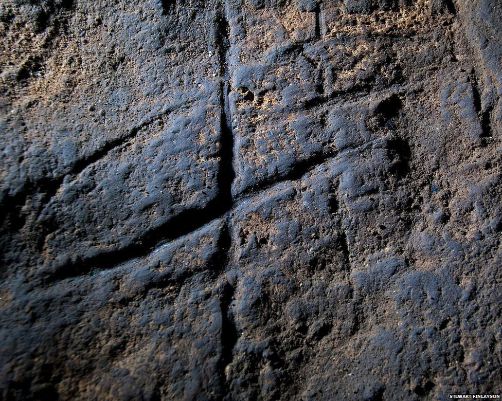 Rock engravings in Gibraltar could be proof that Neanderthals were more intelligent than previously thought. Photograph: Stuart Finlayson/AP