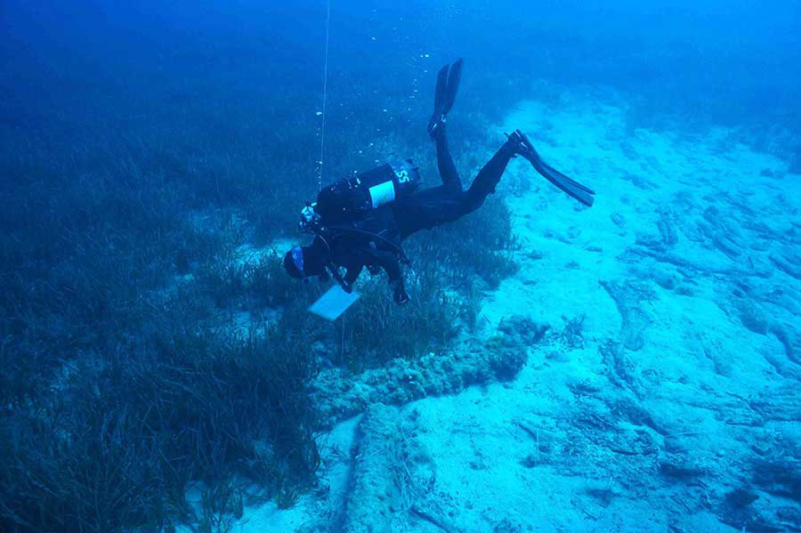 The Nissia Shipweck site. © MARELab, University of Cyprus (Photo: Andrew Viduka)