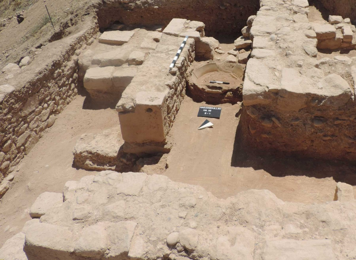 Palaepaphos: The compartments created between cross walls and terrace walls were evidently used for storage and for the industrial facilities of the palace.