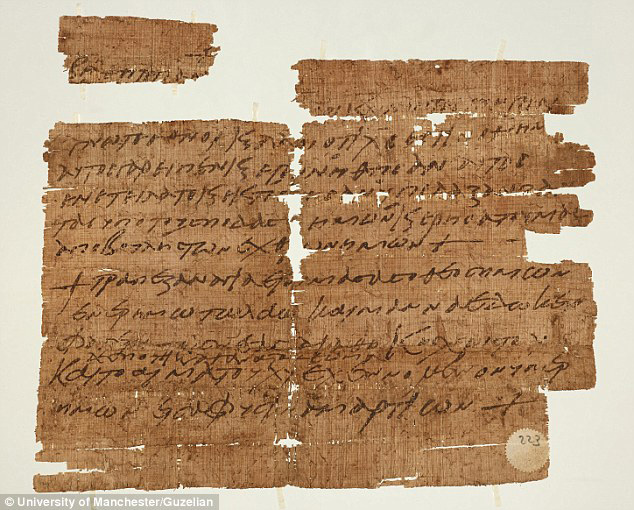The 1,500-year-old papyrus identified as one of the world's earliest surviving Christian charms. [Photo credit: University of Manchester/Guzellan]