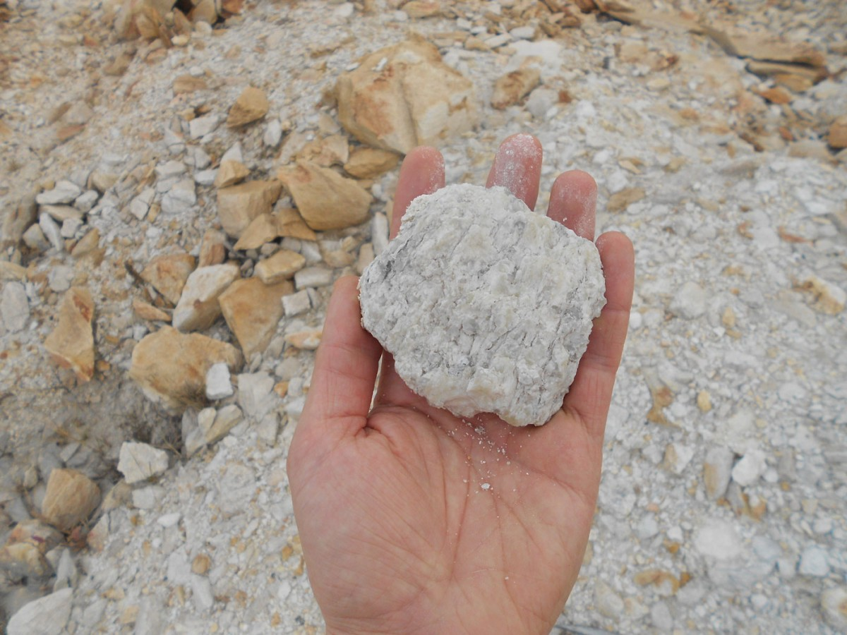 Hand sample of 3.02 billion year old paleosol (credit: Quentin Crowley - Trinity College Dublin).