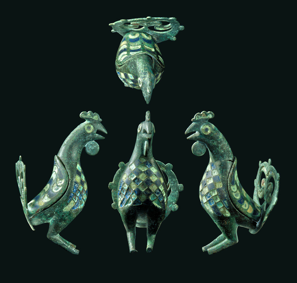 The artifact is rare as only eight similar figurines are known from the Roman world. This particular one is the only one from Britain to have come from a grave and also the only one that has its openwork tail. Photo credit: Cotswold Archaeology