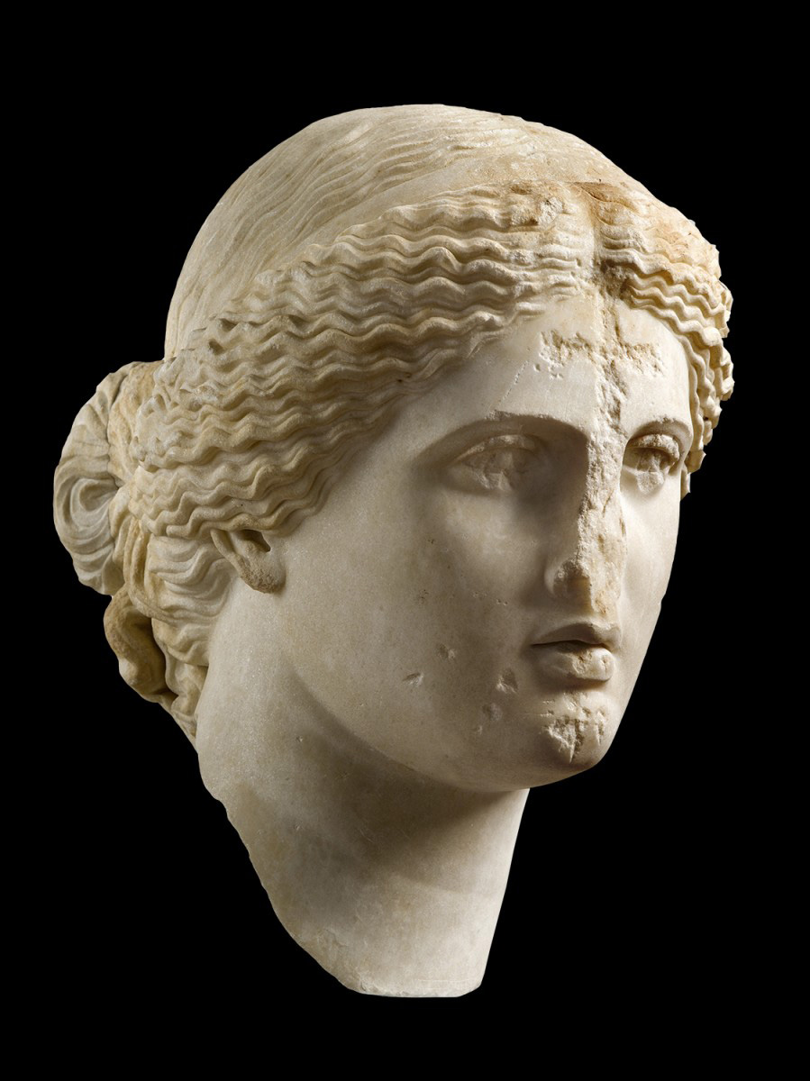 Head of Aphrodite, 1st century A.D. Byzantine. Greece, probably Athens. National Archaeological Museum, Athens.