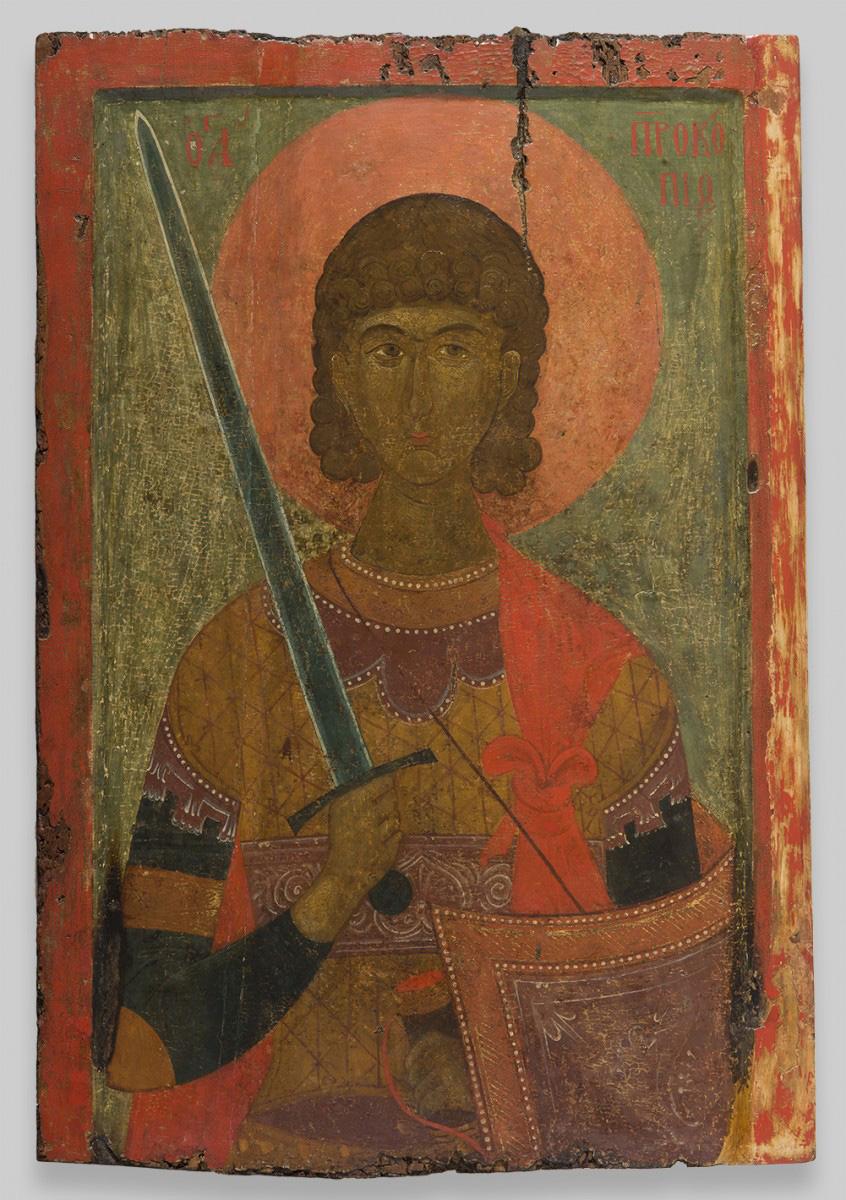 Icon of St. Prokopios, 14th century. Byzantine; Greece, Veroia. Church of Saint Prokopios, Veroia.
