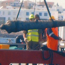 Ottoman cannon recovered off Paralimni, Cyprus