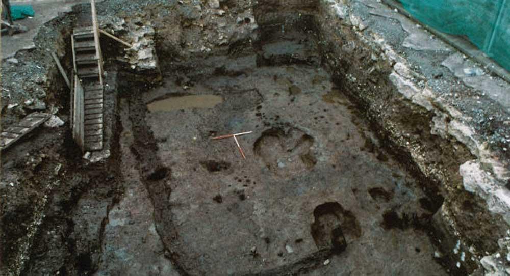 Viking house as found during excavations in Cork city, Ireland. Photo: Irish Examiner.