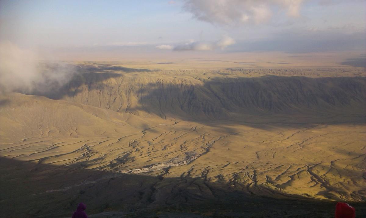 The flanks of Oldonyo Lengai volcano in Northern Tanzania.