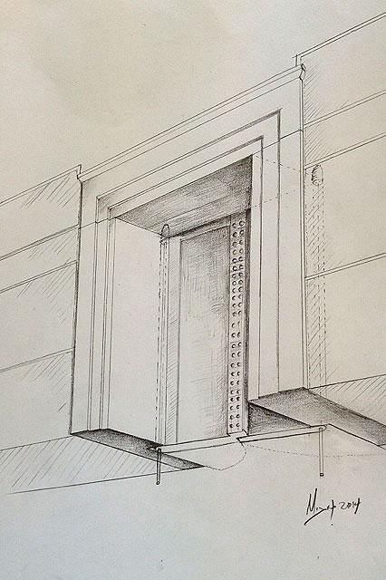 Amphipolis: Drawing of the door.