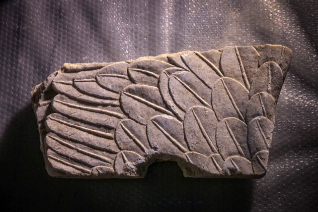 Part of the Sphinxes' wings found during the Amphipolis excavations.