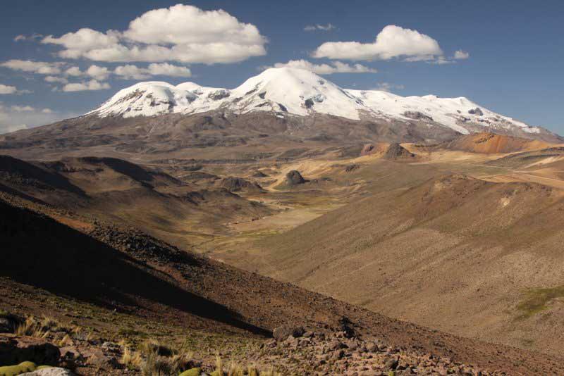 Nevado Coropuna, the highland area of the sites. Courtesy Kurt Rademaker