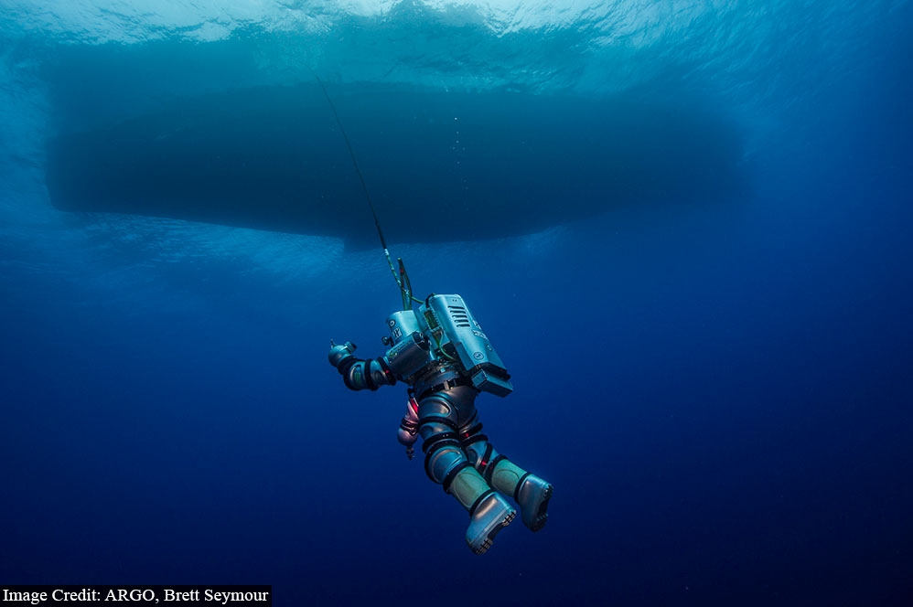 Exosuit was deployed as an new tool for deep water archaeology.