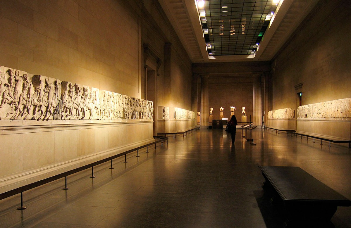 The Parthenon marbles in the British Museum.