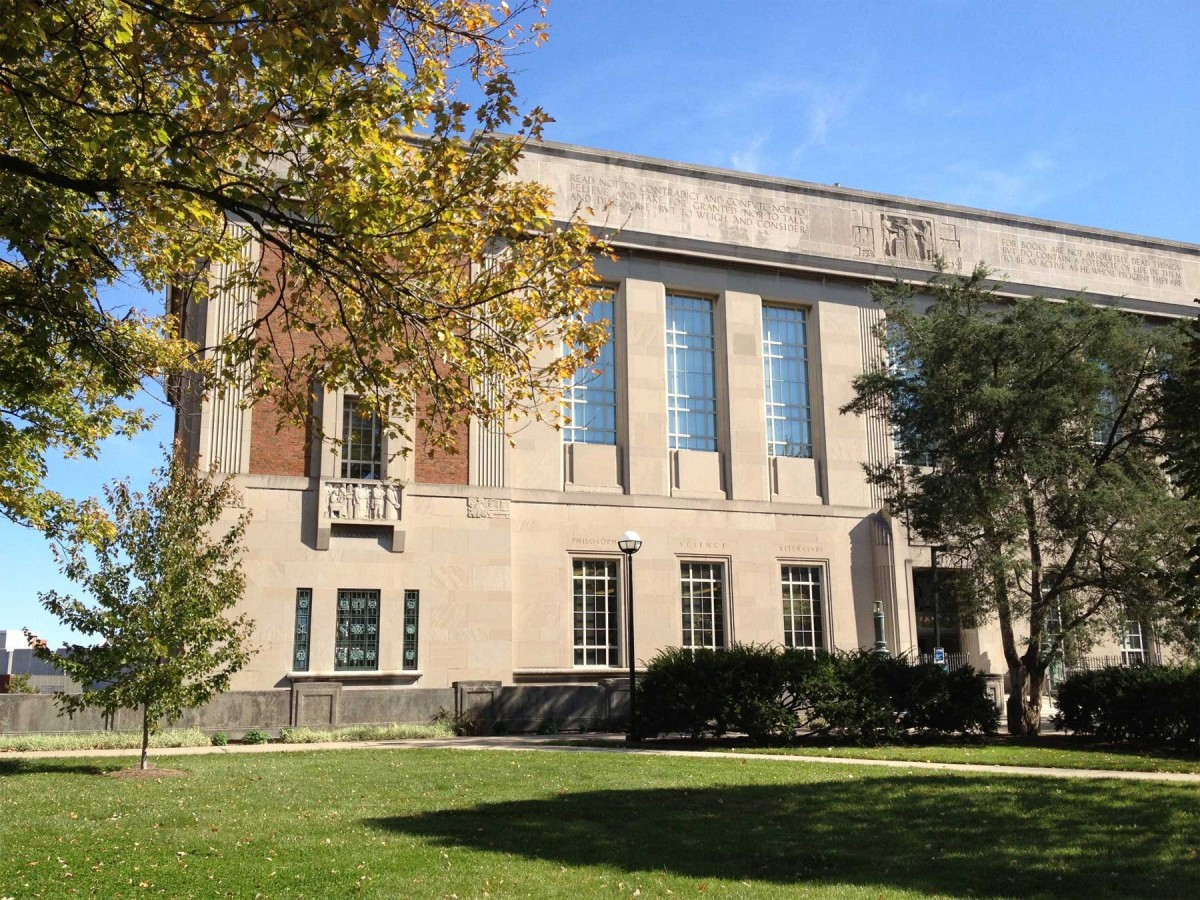 Blegen Library - West Doors, University of Cincinnati.