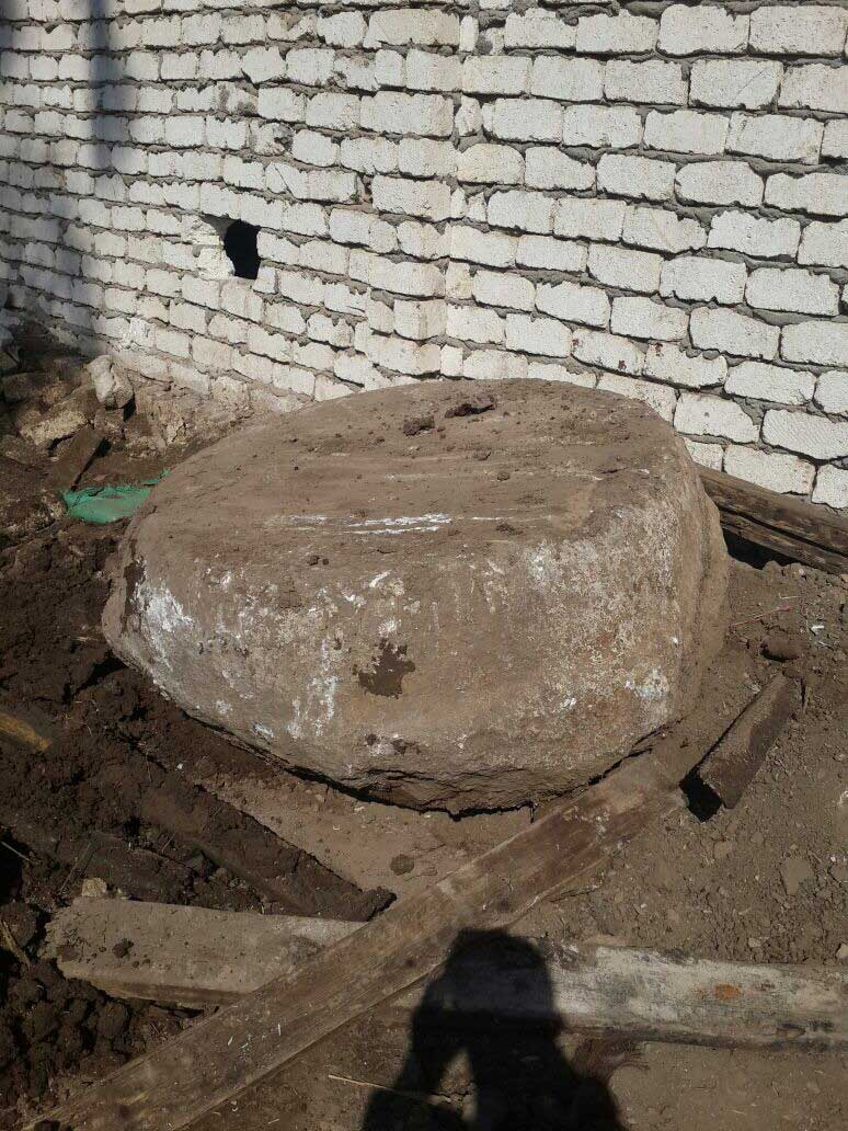 Column foundation unearthed.