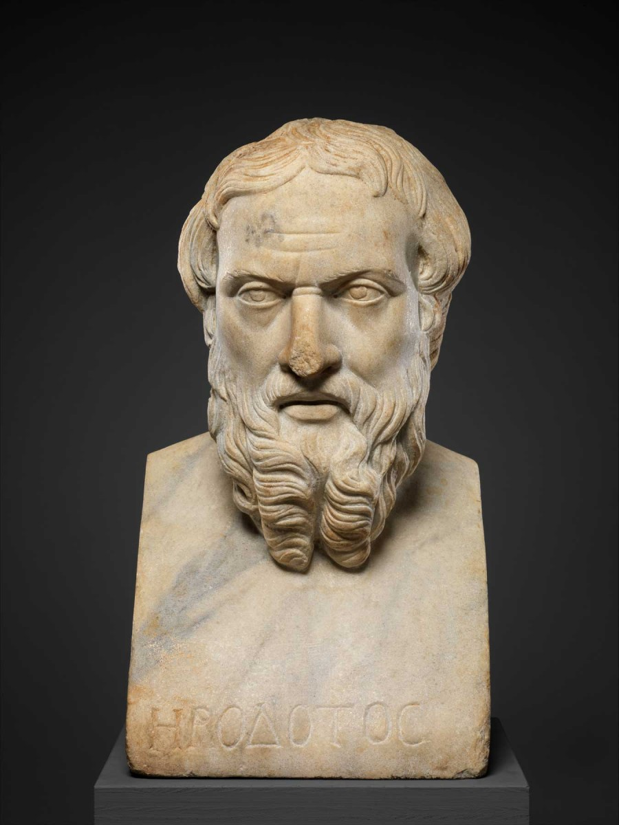 Marble bust of Herodotos, 2nd c. AD. Credit: The Metropolitan Museum of Art