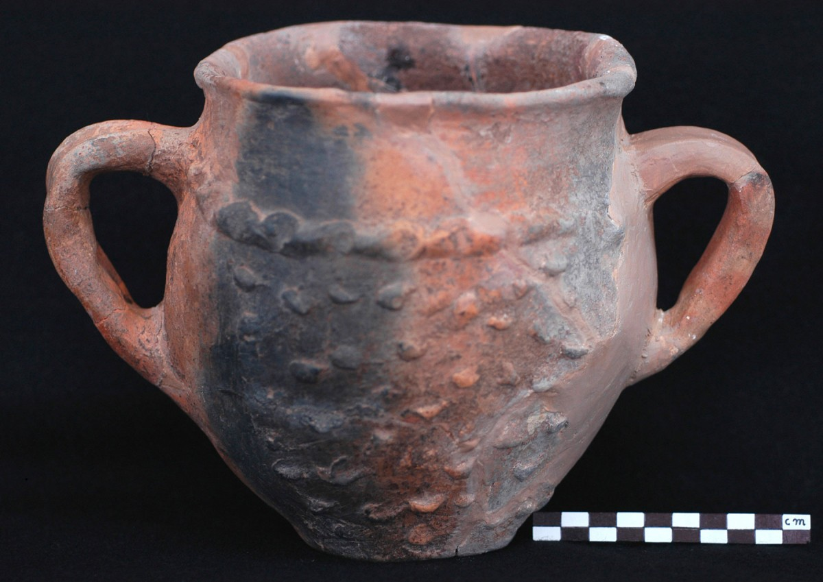 Fig. 4. Example of coarse handmade pottery with plastic decoration. (Source: 12th E.P.C.A. archive)