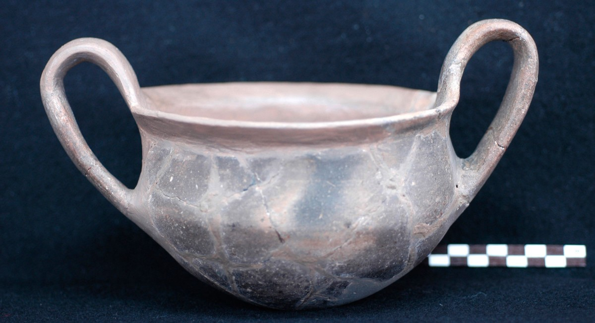 Fig. 5. Example of semi-coarse handmade pottery with polished surface. (Source: 12th E.P.C.A. archive)