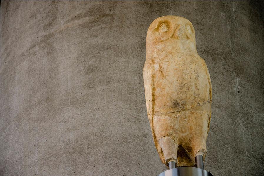Owl, Acropolis Museum, Athens.