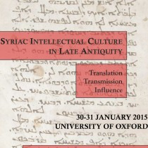 Syriac Intellectual Culture in Late Antiquity