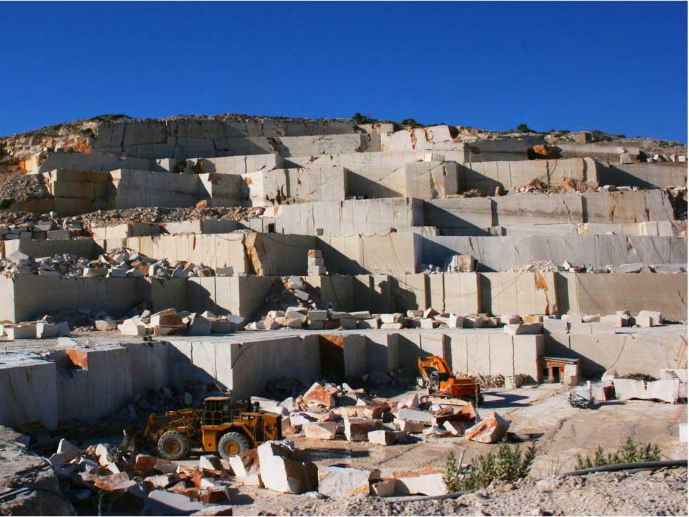 Pučišća limestone quarry.