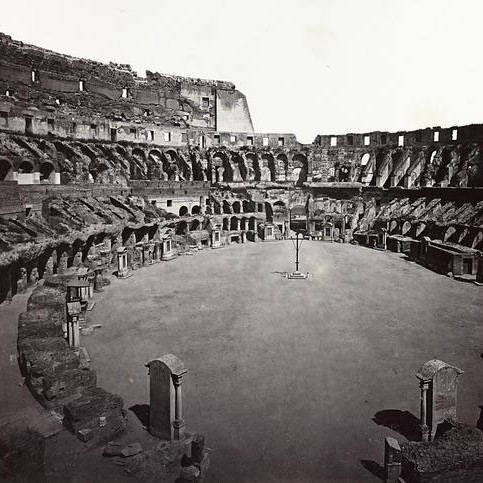 The Colosseum Arena in the 1800s.