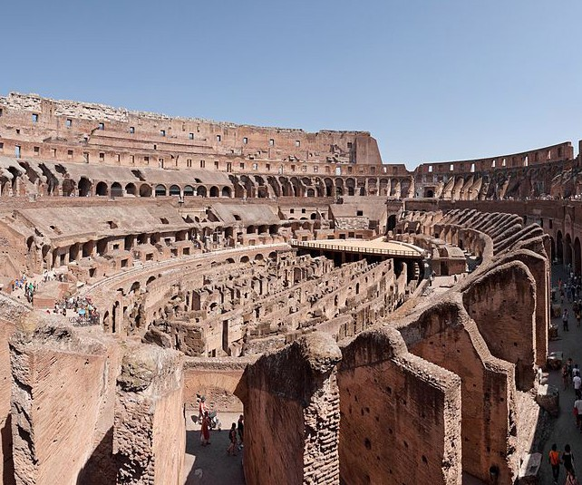 Panoramic view of the Colosseum.