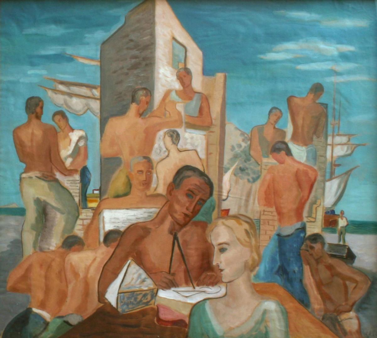 Gerasimos Steris, Work, oil on canvas. Municipal Gallery of Athens.
