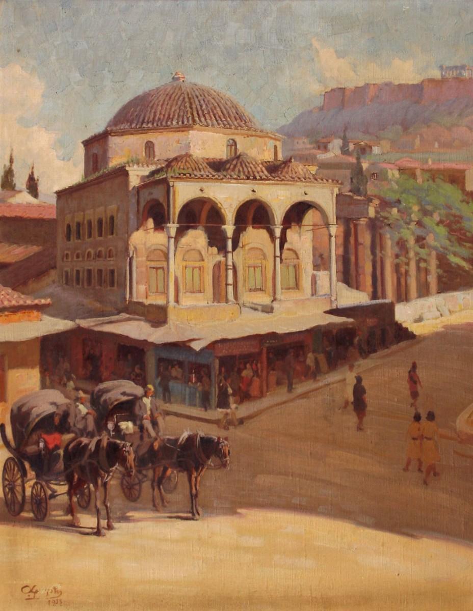 Alexandros Christofis, Monastiraki mosque, oil on canvas. Municipal Gallery of Athens.