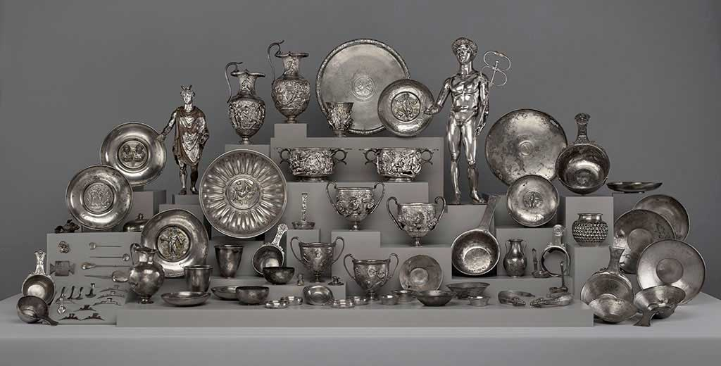 The Roman silver treasure dedicated to Mercury, found at Berthouville in 1830.