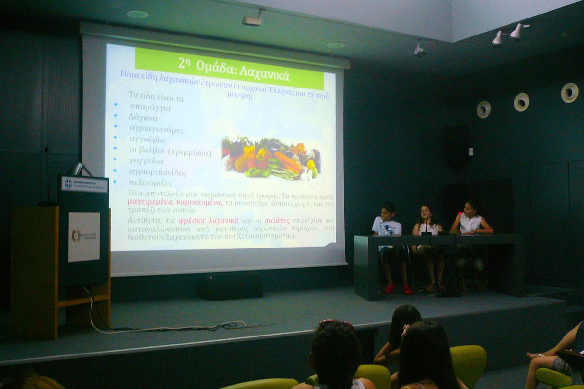 Fig. 3. Snapshot of the class D2 student presentations.