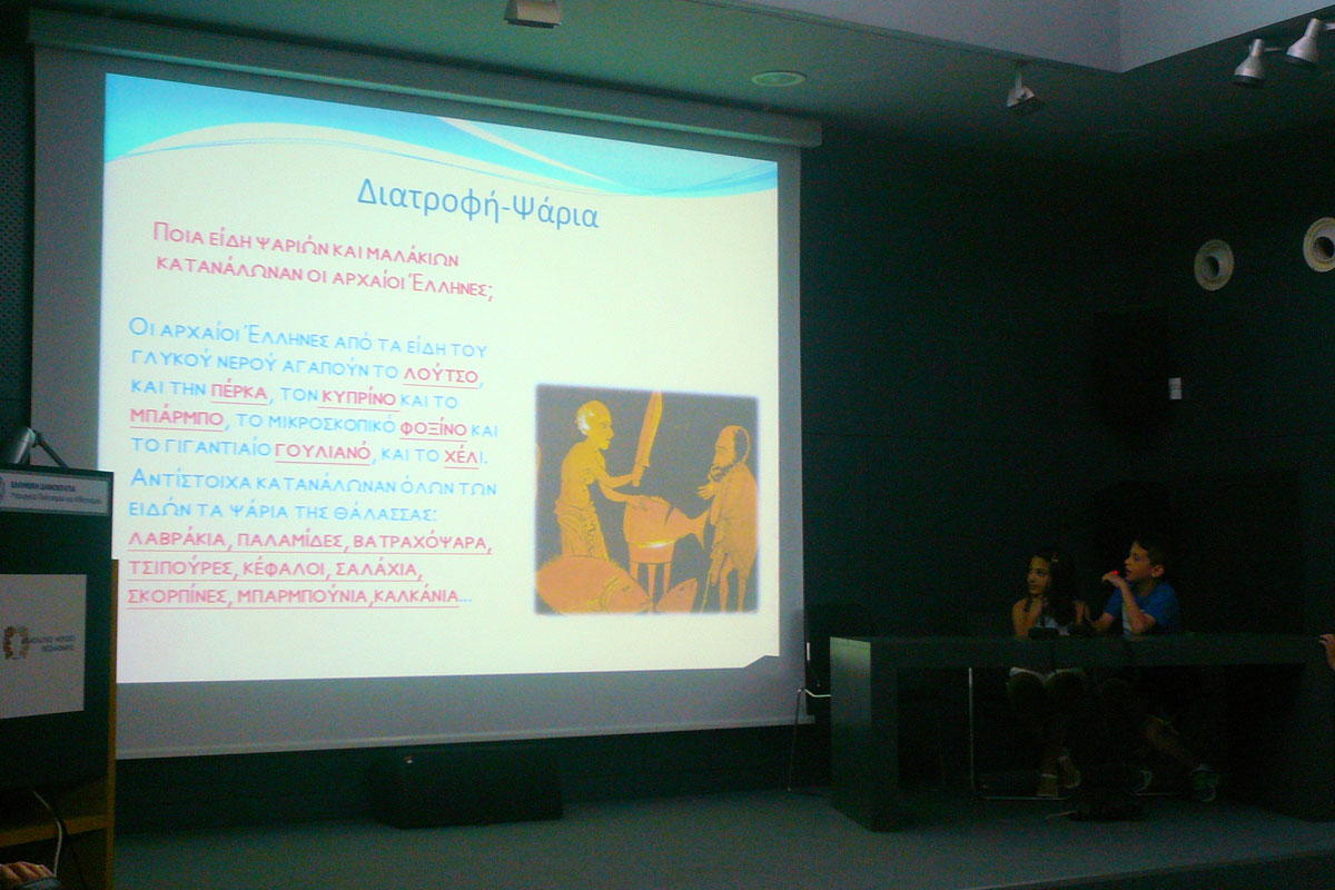Fig. 4. Snapshot of the class D2 student presentations.